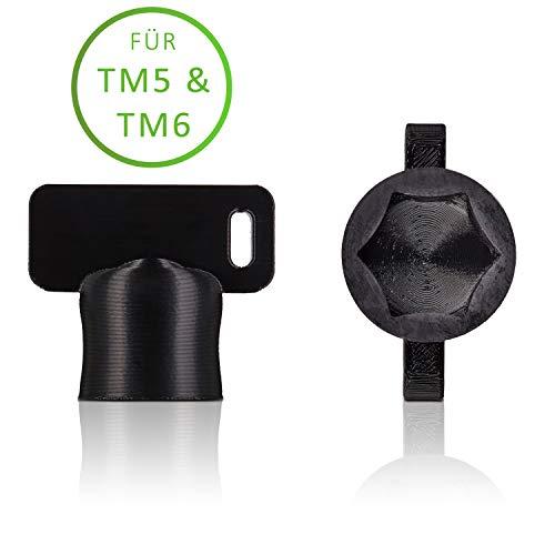 Der TeigTurner von Qitchen – Teiglöser für Thermomix TM6 und TM5 – Die Drehhilfe für Ihre Küchenmaschine von Vorwerk | Unsere Messerdrehhilfe als optimales Thermomix Zubehör Schwarz