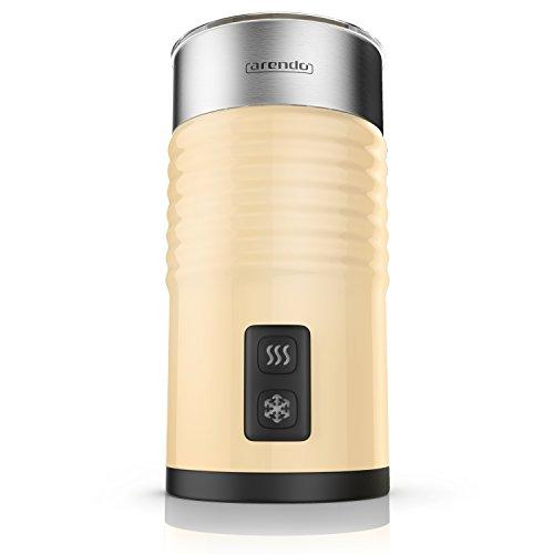 Arendo milkloud Milchaufschäumer automatisch – Soft-Touch-Oberfläche – rostfreies Doppelwanddesign – Milk frother – 2-Tasten für Warm- und Kaltaufschäumen – Überhitzungsschutz