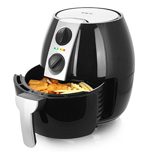 Emerio Heißluftfritteuse, Airfryer, Smart Fryer, Frittieren ohne Öl, 4,5 Liter Volumen, 1500 Watt, AF-116073