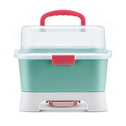 Sortierbox Für Babyartikel, Babyflaschen Wäscheständer Staubschutz, Babyflasche Aufbewahrungsbox Flasche Trockengestell, Tragbares Flaschen Organizer, Aufbewahrungsbehälter Baby Geschirr Organisator