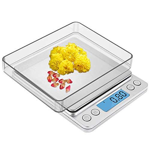 Zorara Digitale Küchenwaage, 3kg/0,1g Küchenwaage Digitalwaage, Präzisionswaage Elektronische Waage Küchen Haushaltswaage, Hohe Präzision Briefwaage, Stückzählung Funktion, LCD-Display