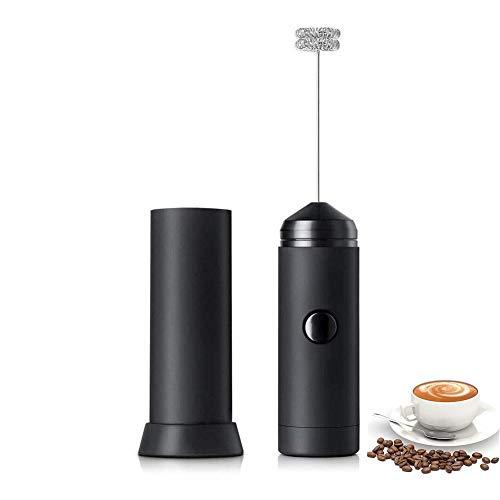 XIXTOT Elektrischer Milchaufschäumer, Batteriebetriebene Milchaufschäumer Handheld Milk Frother Mini Schäumer Milchschaum für Kaffee/Latte/Cappuccino