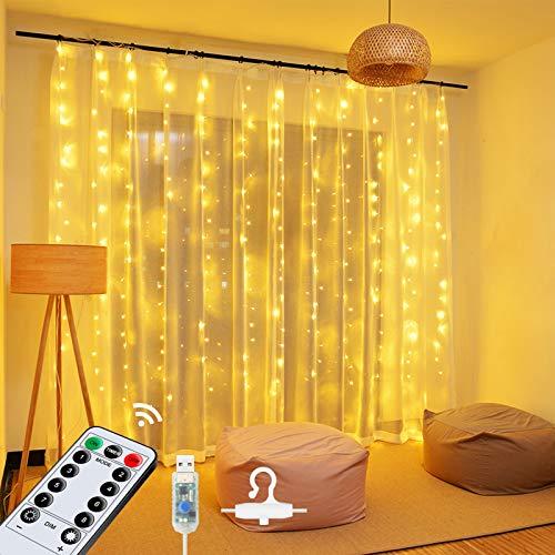 Top 10 Lichtervorhang LED Warmweiß – Lichterketten für Innen